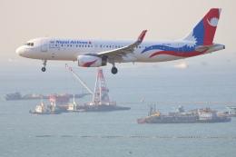 安芸あすかさんが、香港国際空港で撮影したネパール航空 A320-233の航空フォト(飛行機 写真・画像)