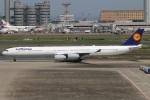 たみぃさんが、羽田空港で撮影したルフトハンザドイツ航空 A340-642Xの航空フォト(写真)