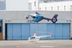 やーまんさんが、東京ヘリポートで撮影した中日新聞社 EC135P2の航空フォト(写真)