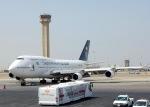 cornicheさんが、キング・アブドゥルアジズ国際空港で撮影したサウジアラビア航空 747-412の航空フォト(写真)