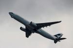 ハピネスさんが、香港国際空港で撮影したキャセイパシフィック航空 A330-343Xの航空フォト(飛行機 写真・画像)