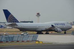 はれいろさんが、フランクフルト国際空港で撮影したユナイテッド航空 747-451の航空フォト(飛行機 写真・画像)