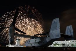 maruさんが、キャンプ富士で撮影したアメリカ海兵隊 MV-22Bの航空フォト(飛行機 写真・画像)