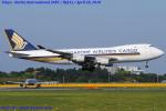 Chofu Spotter Ariaさんが、成田国際空港で撮影したシンガポール航空カーゴ 747-412F/SCDの航空フォト(飛行機 写真・画像)