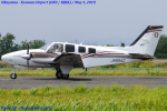 Chofu Spotter Ariaさんが、岡南飛行場で撮影した岡山航空 G58 Baronの航空フォト(飛行機 写真・画像)