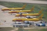 cornicheさんが、マドリード・バラハス国際空港で撮影したDHLエア UK 757-236(SF)の航空フォト(飛行機 写真・画像)