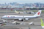 小牛田薫さんが、羽田空港で撮影した中国国際航空 747-89Lの航空フォト(写真)