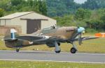 ちゃぽんさんが、フェアフォード空軍基地で撮影したイギリス空軍 Hurricane Mk2Cの航空フォト(写真)
