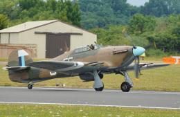 ちゃぽんさんが、フェアフォード空軍基地で撮影したイギリス空軍 Hurricane Mk2Cの航空フォト(飛行機 写真・画像)