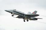 ちゃぽんさんが、フェアフォード空軍基地で撮影したスイス空軍 F/A-18C Hornetの航空フォト(飛行機 写真・画像)