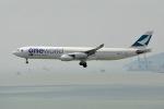 cornicheさんが、香港国際空港で撮影したキャセイパシフィック航空 A340-313Xの航空フォト(飛行機 写真・画像)
