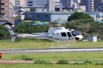 yabyanさんが、名古屋飛行場で撮影した雄飛航空 AS350B Ecureuilの航空フォト(飛行機 写真・画像)