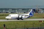 Gambardierさんが、フランクフルト国際空港で撮影したブリュッセル航空 Avro 146-RJ85の航空フォト(写真)