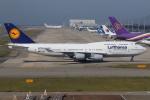 つみネコ♯2さんが、関西国際空港で撮影したルフトハンザドイツ航空 747-430の航空フォト(写真)