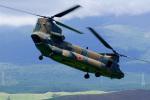 ちゃぽんさんが、東富士演習場で撮影した陸上自衛隊 CH-47JAの航空フォト(写真)