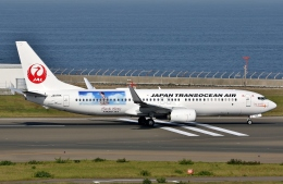 SKY TEAM B-6053さんが、中部国際空港で撮影した日本トランスオーシャン航空 737-8Q3の航空フォト(写真)