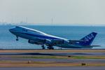 カヤノユウイチさんが、羽田空港で撮影した全日空 747-481(D)の航空フォト(飛行機 写真・画像)