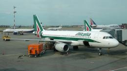 ちゃぽんさんが、シェレメーチエヴォ国際空港で撮影したアリタリア航空 A320-216の航空フォト(飛行機 写真・画像)