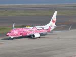 カフェもなかさんが、中部国際空港で撮影した日本トランスオーシャン航空 737-8Q3の航空フォト(写真)