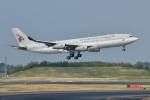 saoya_saodakeさんが、成田国際空港で撮影したカタールアミリフライト A340-211の航空フォト(写真)