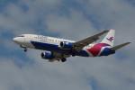 小弦さんが、バンクーバー国際空港で撮影したフレア航空 737-490の航空フォト(写真)