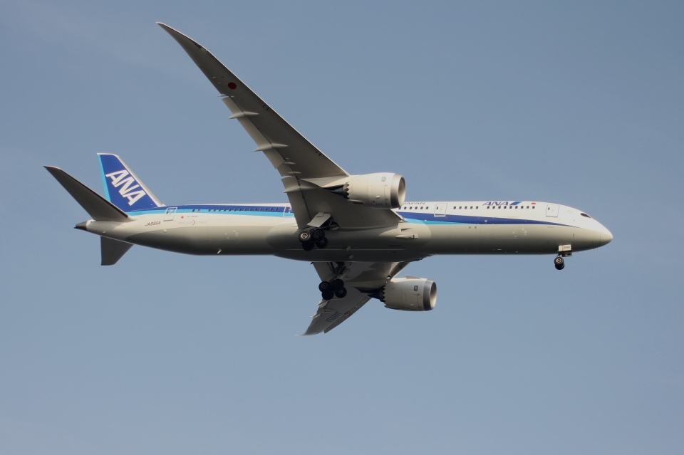 空の旅人さんの全日空 Boeing 787-9 (JA895A) 航空フォト