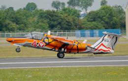 ちゃぽんさんが、フェアフォード空軍基地で撮影したオーストリア空軍 Saab 105Öの航空フォト(飛行機 写真・画像)
