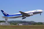 キイロイトリさんが、広島空港で撮影した全日空 777-281/ERの航空フォト(写真)