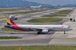 yabyanさんが、関西国際空港で撮影したアシアナ航空 A321-231の航空フォト(飛行機 写真・画像)