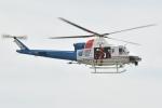 500さんが、豊橋市大村町字高山地内 豊川右岸で撮影した愛知県防災航空隊 412EPIの航空フォト(写真)
