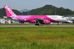 サボリーマンさんが、松山空港で撮影したピーチ A320-214の航空フォト(飛行機 写真・画像)