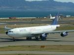 うすさんが、関西国際空港で撮影したエジプト航空 A340-212の航空フォト(写真)