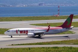 yabyanさんが、関西国際空港で撮影したティーウェイ航空 737-83Nの航空フォト(飛行機 写真・画像)