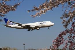恵二さんが、成田国際空港で撮影したユナイテッド航空 747-422の航空フォト(飛行機 写真・画像)