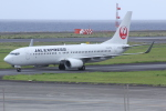 いっとくさんが、奄美空港で撮影したJALエクスプレス 737-846の航空フォト(写真)