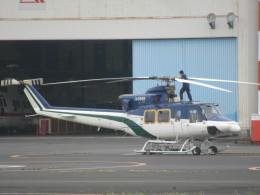 ランチパッドさんが、東京ヘリポートで撮影した朝日航洋 412の航空フォト(飛行機 写真・画像)