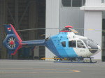 ランチパッドさんが、東京ヘリポートで撮影した中日新聞社 EC135P2の航空フォト(写真)