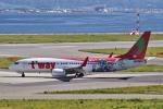 yabyanさんが、関西国際空港で撮影したティーウェイ航空 737-8HXの航空フォト(飛行機 写真・画像)