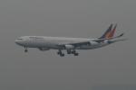 トオルさんが、香港国際空港で撮影したフィリピン航空 A340-313Xの航空フォト(写真)