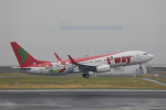 じゃりんこさんが、中部国際空港で撮影したティーウェイ航空 737-8Q8の航空フォト(写真)