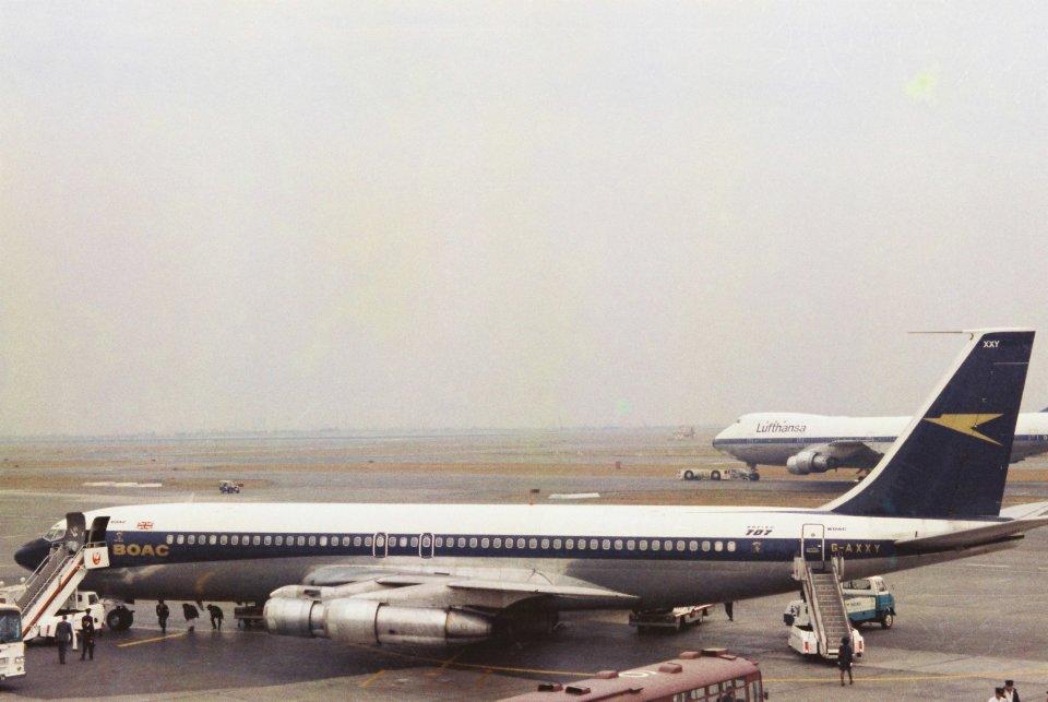 ベリックさんのブリティッシュ・オーバーシーズ・エアウェイズ (BOAC) Boeing 707 (G-AXXY) 航空フォト
