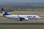 Dojalanaさんが、新千歳空港で撮影したスカイマーク 737-8HXの航空フォト(写真)