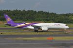 とりてつさんが、成田国際空港で撮影したタイ国際航空 A350-941XWBの航空フォト(写真)