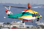 へりさんが、八尾空港で撮影した朝日航洋 AW139の航空フォト(写真)
