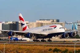 LAX Spotterさんが、ロサンゼルス国際空港で撮影したブリティッシュ・エアウェイズ A380-841の航空フォト(写真)