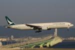 関西国際空港 - Kansai International Airport [KIX/RJBB]で撮影されたキャセイ・パシフィック航空 - Cathay Pacific Airways [CX/CPA]の航空機写真