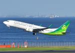 じーく。さんが、羽田空港で撮影した春秋航空日本 737-8ALの航空フォト(飛行機 写真・画像)