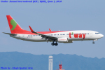 Chofu Spotter Ariaさんが、関西国際空港で撮影したティーウェイ航空 737-8GJの航空フォト(飛行機 写真・画像)