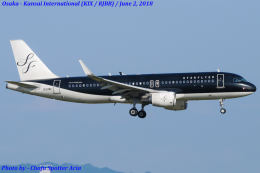 Chofu Spotter Ariaさんが、関西国際空港で撮影したスターフライヤー A320-214の航空フォト(飛行機 写真・画像)