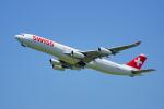 ちゃぽんさんが、成田国際空港で撮影したスイスインターナショナルエアラインズ A340-313Xの航空フォト(写真)